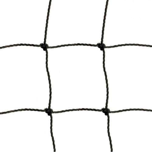 Afschermnet 3 mm PE 100 x 100 mm - 25 x 5 m - Zwart