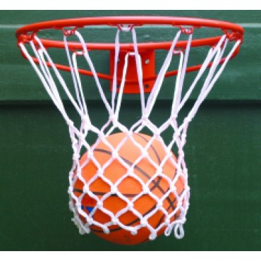 Basketbalnet PES 6 mm Wit