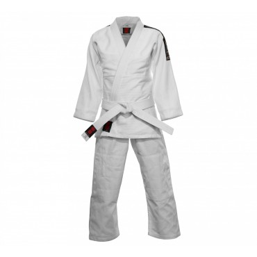 Judopak Essimo Koka maat 170 wit + label + band