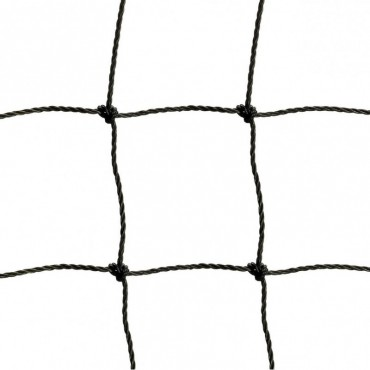 Afschermnet 3 mm PE 100 x 100 mm - 20 x 5 m - Zwart
