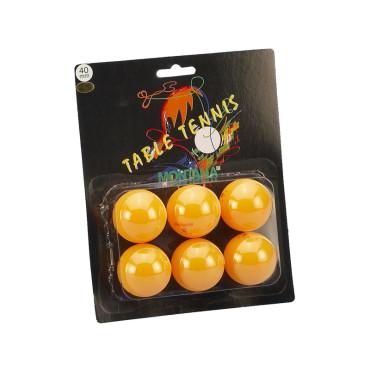 Tafeltennisballen Blister Montana 3 Ster Oranje - 6 stuks