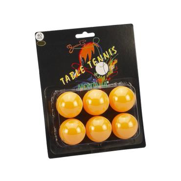 Tafeltennisballen Blister Montana 1 Ster Oranje - 6 stuks