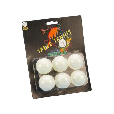 Tafeltennisballen Blister Montana 1 Ster Wit - 6 stuks