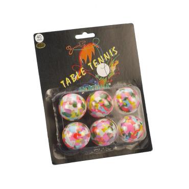 Tafeltennisballen Blister Montana Multikleur - 6 stuks