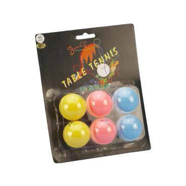 Tafeltennisballen Blister Montana Fluor - 6 stuks