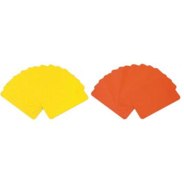 Scheidsrechter Kaartenset Barret (1x geel en 1x rood)