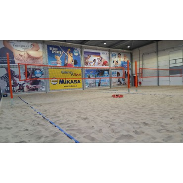 Beachvolleybalnet 3 mm ppm 8,5 x 1 m Oranje band Pro2