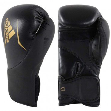 Bokshandschoenen adidas Speed 200 - Zwart-Goud - 16 oz