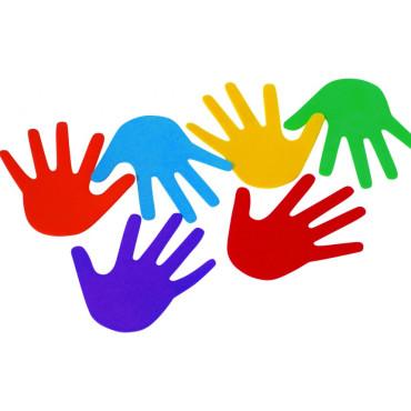 Vloermarkeringen Set van 6 handen