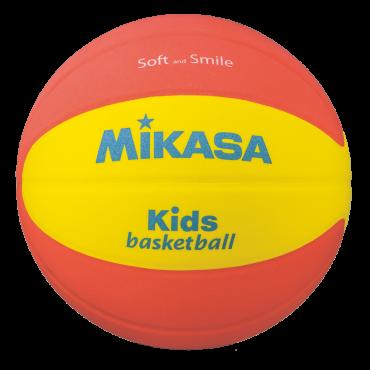 Basketbal Mikasa SB512 Kids Soft - Maat 5 -Oranje/Geel