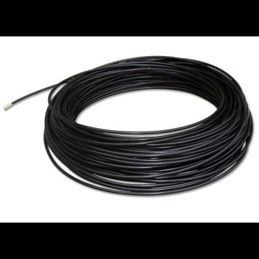 Staalkabel pvc zwart 3/5 mm - per meter