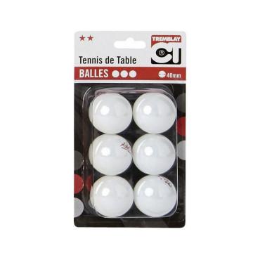 Tafeltennisballen Blister Arora 2 Ster Wit - 6 stuks