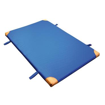 Turnmat Handvatten Leren Hoek - 150 x 100 x 6 cm - Blauw