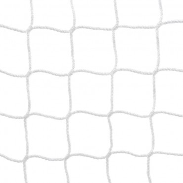 Voetbaldoelnet 4 mm PPM - 7,5 x 2,5 x 0,8 x 2 m - Wit